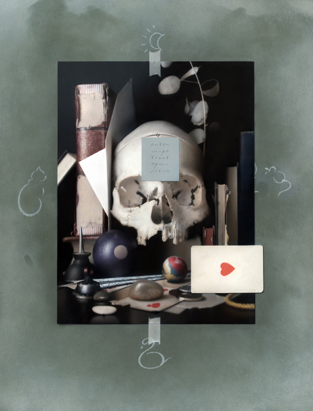 Pursuits (A Modern Vanitas), 20×16″, Oil