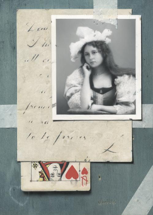 The Letter, 7×5″, Oil
